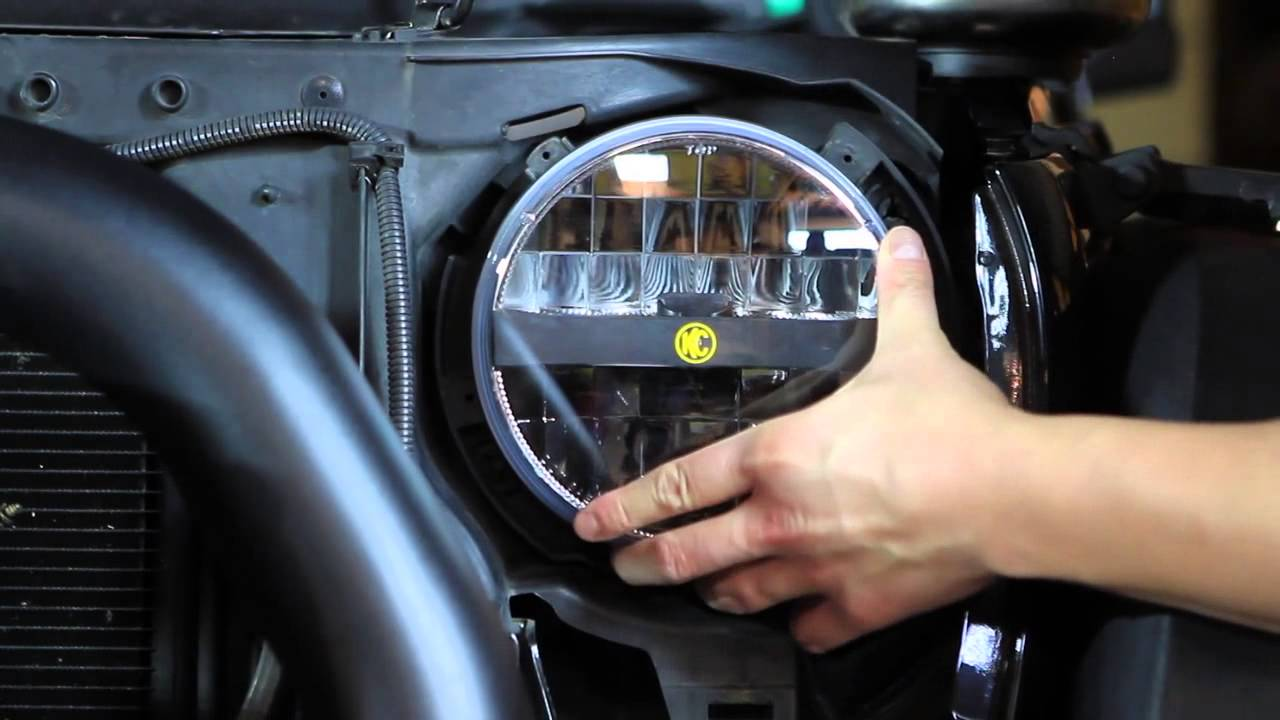 kc hilites jk jeep wrangler headlight install. Black Bedroom Furniture Sets. Home Design Ideas