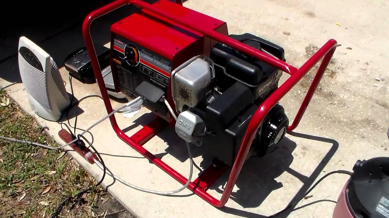 Lincoln Powerarc 4000 Watt Generator 125 Amp Welder 8 0