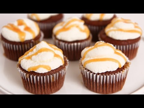 Salted Caramel Chocolate Cupcakes Recipe - Laura Vitale - Laura in the Kitchen Episode 640