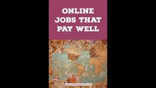 Work Online From Home and Get Paid  - Legit Online Jobs