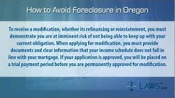 How to stop foreclosure in Oregon