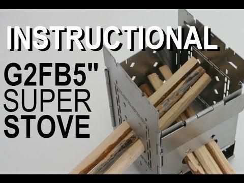 "G2 5"" Folding Firebox Camping Stove Instructional video"