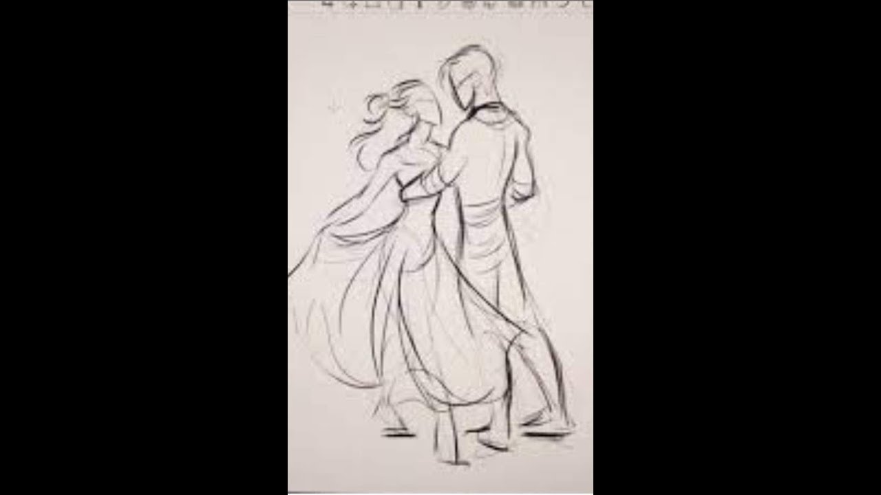 Romantic love couple pencil sketch drawing learn how to draw