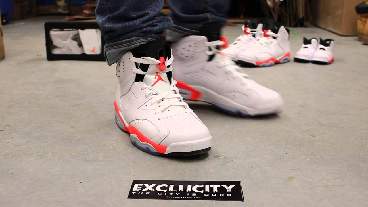 fdb068d0f5c6a5 ... purchase air jordan 6 white infrared on feet video exclucity youtube  75e6e 94a2a