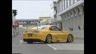 Crazy Toyota Supra Tuning Test Drive @ Drift Race Track Japan