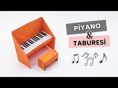 Comment faire un piano et un tabouret en papier, faire un piano en origami facile
