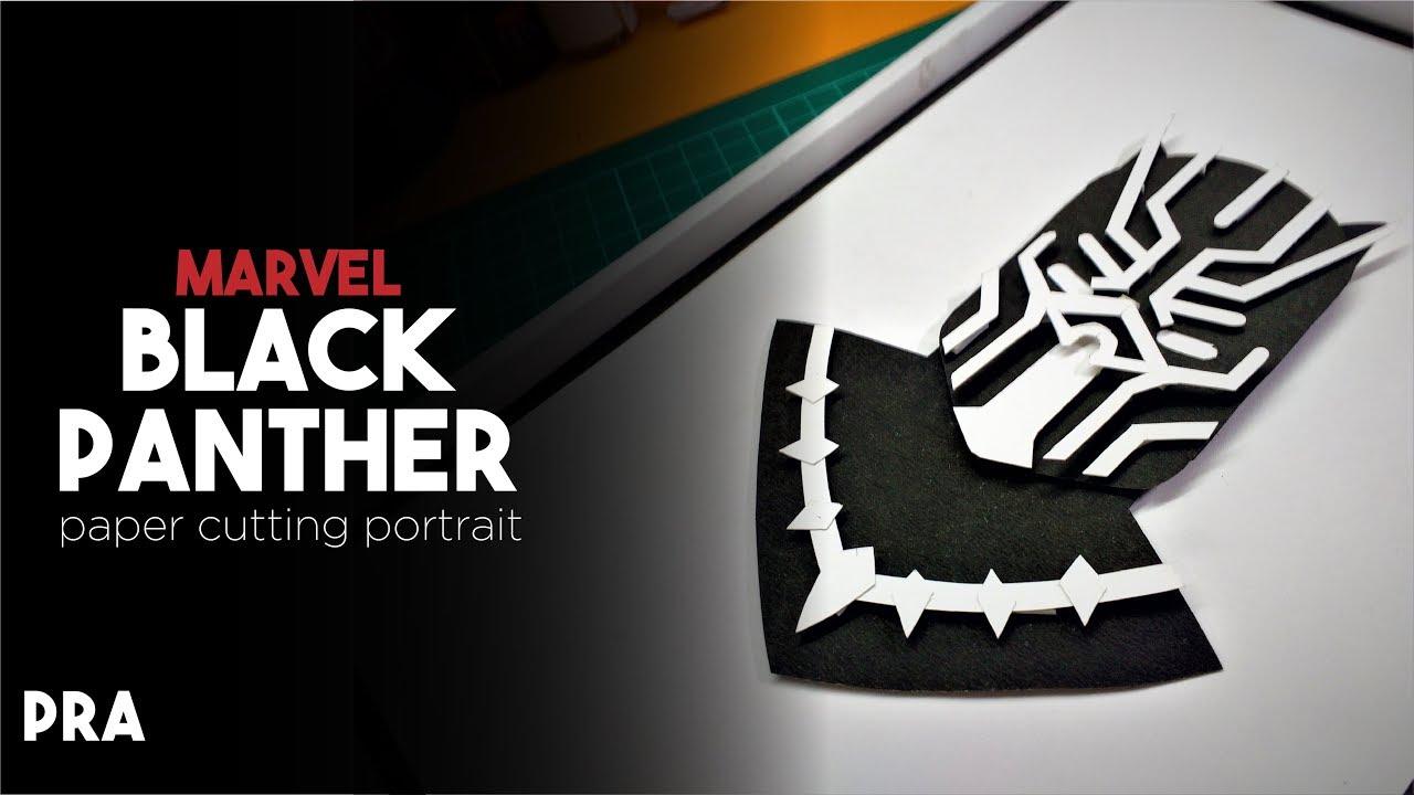 marvel black panther avengers infinity war pra paper cutting