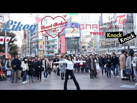 [KPOP IN PUBLIC CHALLENGE] TWICE(트와이스) Random dance   Nana(나나)   @Shibuya Crossing 渋谷