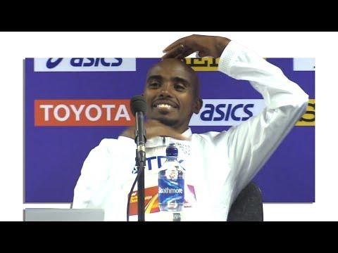 Mo Farah's Final Press Conference After 5000m Final At World Championships
