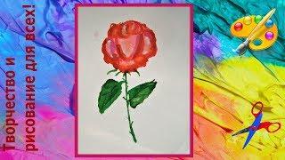 как быстро нарисовать розу  гуашью Creativity & Art of Olga Mishina