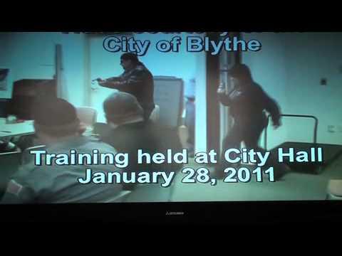 Blythe California police shooter training video