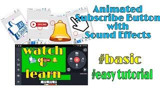 Paano gumawa ng Animated Subscribe Button Gamit ang iyong mobile phone | Green Screen