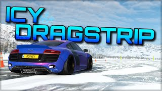 Forza Horizon 4 | How to race on the ICY DRAGSTRIP in any season  + big map glitch!