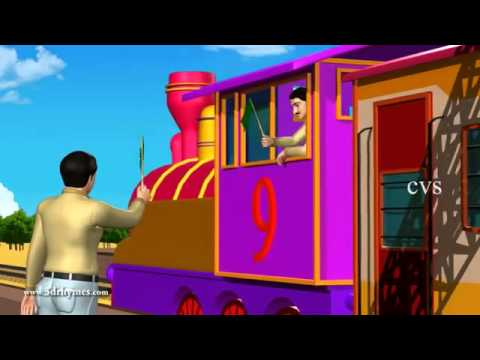 Engine Engine Number 9   3D Animation English Nursery rhyme for children   MP4 360p