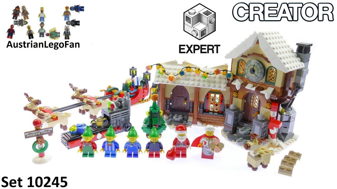 Lego Creator 10245 Santas Workshop Lego Speed Build Review Youtube