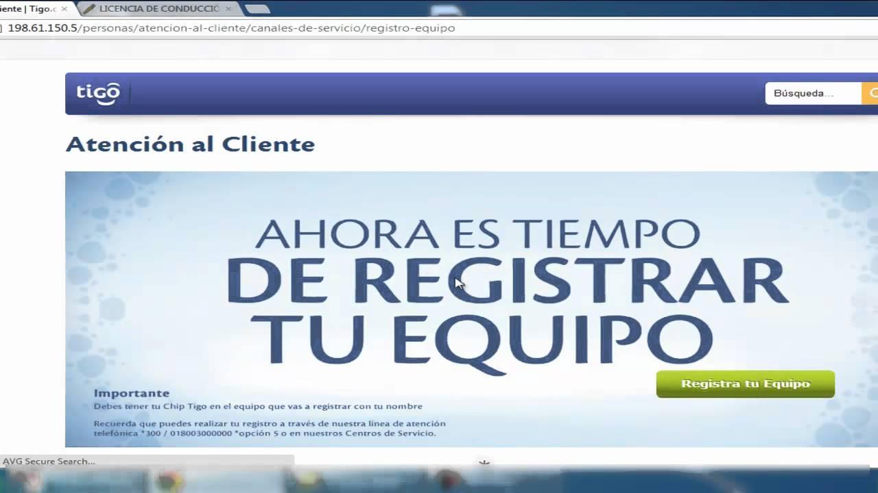 Registro De Celulares Tigo Tutorial Para Registrar Su Equipo Celular En Tigo Colombia Youtube