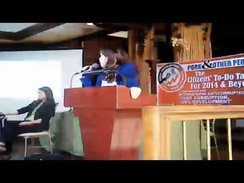Commissioner Heidi Mendoza on Auditing Pork & Lump-sum funds