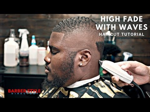 Drop Fade Waves Haircut With Part 60