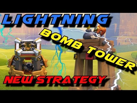 Thumbnail: Lightning Bomb Tower New Strategy is CRAZY AWESOME! -- Clash of Clans Awesome Attacks!