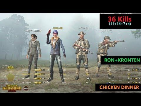 [Hindi] PUBG Mobile   '36 Kills' RON+Kronten Amazing Game Chicken Dinner