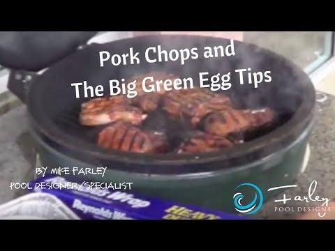 Pork chops & Big Green Egg Tips - YouTube