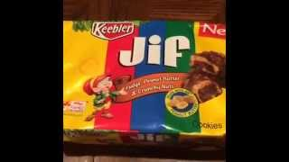15 Second Food Review: Keebler Jif Fudge, Peanut Butter & Crunchy Nuts Cookie