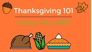 Holiday Prep 101 -Thanksgiving or Christmas| Menu Planning Steps
