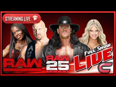 WWE RAW 25 Live Stream Full Show January 22nd 2018 Live Reactions RAW's 25th Anniversary