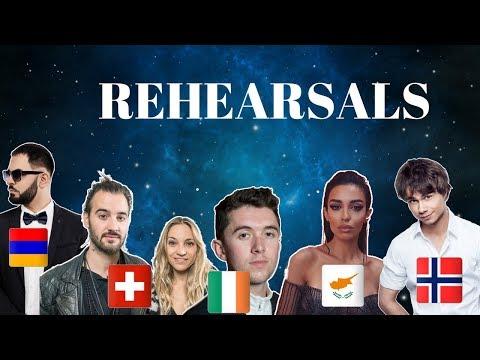 Eurovision 2018 Rehearsals - Armenia, Switzerland, Ireland Cyprus & Norway (Press Center)