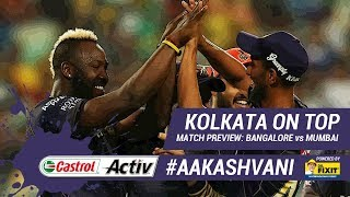 #IPL2019: #KKR on top of the table: 'Castrol Activ' #AakashVani, powered by 'Dr. Fixit'