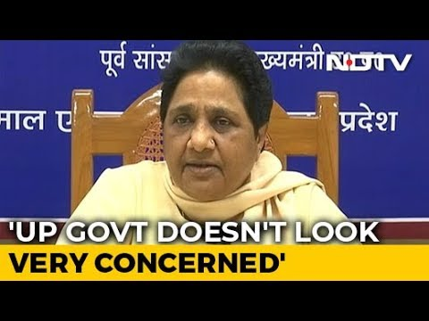 """UP Governor Is A Woman..."": Mayawati Stings BJP Over Unnao Death"