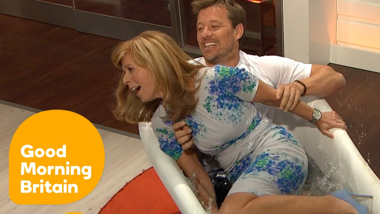 Ben Shephard Drags Kate Garraway Into An Ice Bath Good Morning Britain Youtube