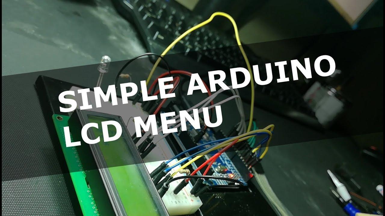 06 A simple Arduino menu for a LCD