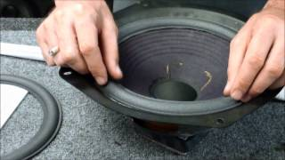 Advent Speaker Repair Replace Foam Edge Metal Frame Woofer