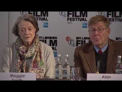The Lady In The Van London Film Festival Press Conference Cast Interviews - Maggie Smith