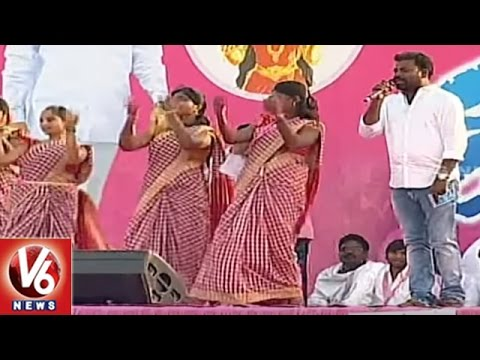 Mittapallli Surender Performance At TRS Pragati Nivedana Sabha   Warangal   V6 News