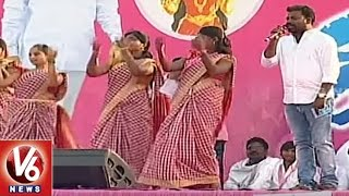 Mittapallli Surender Performance At TRS Pragati Nivedana Sabha | Warangal | V6 News
