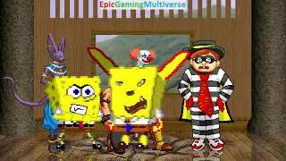 Gods Of Destruction And Ares And SpongeBob SquarePants VS Hamburglar In A MUGEN Match / Battle