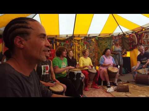 Caribbean drum workshop at Tribe of Doris 2016