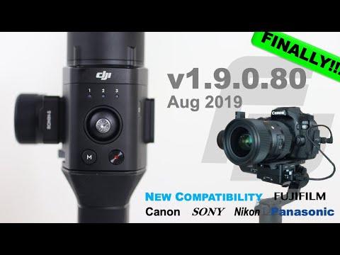 DJI Ronin-S Firmware Update 1.9.0.80   Canon 80D!   Sony, Canon, Nikon, Panasonic, FujiFilm