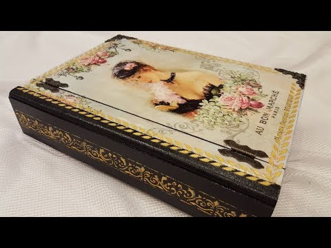 Decoupage box that looks like a book-DIY