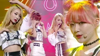 """UNIT"" 9MUSES A (Nine Musings A) - Lip 2 Lip (Lips on Lips) @ Popular Inkigayo 20160814"