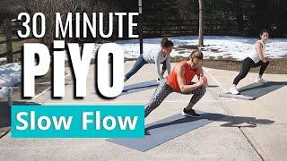 30 MIN PiYO Slow Yoga Flow | At Home Workout | Low Impact | Core
