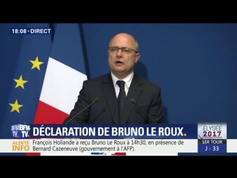 """Bruno Le Roux: """"J'ai adressé au président de la République ma démission"""""""
