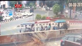 Speeding SUV car Rams Scooty in Delhi's Paschim Vihar, caught On CCTV