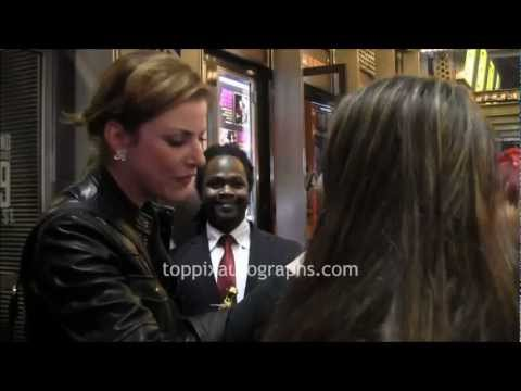 Diane Neal  Signing Autographs at 24 Hour Play on Broadway in NYC