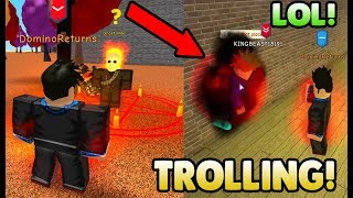TROLLING PEOPLE WITH HELLFIRE! (THEY RAGED) | ROBLOX: Power Training Simulator