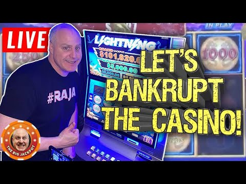 🔴 LIVE Let's Bankrupt The Casino 🎰 High Limit Slot Jackpots At The Monarch Casino