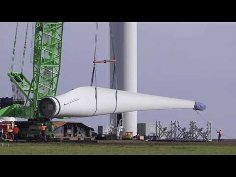 Watch How A Wind Turbine Is Installed - Time Lapse Camera Footage