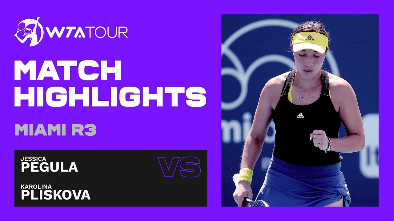 Karolina Pliskova vs. Jessica Pegula | 2021 Miami Round 3 | WTA Match Highlights